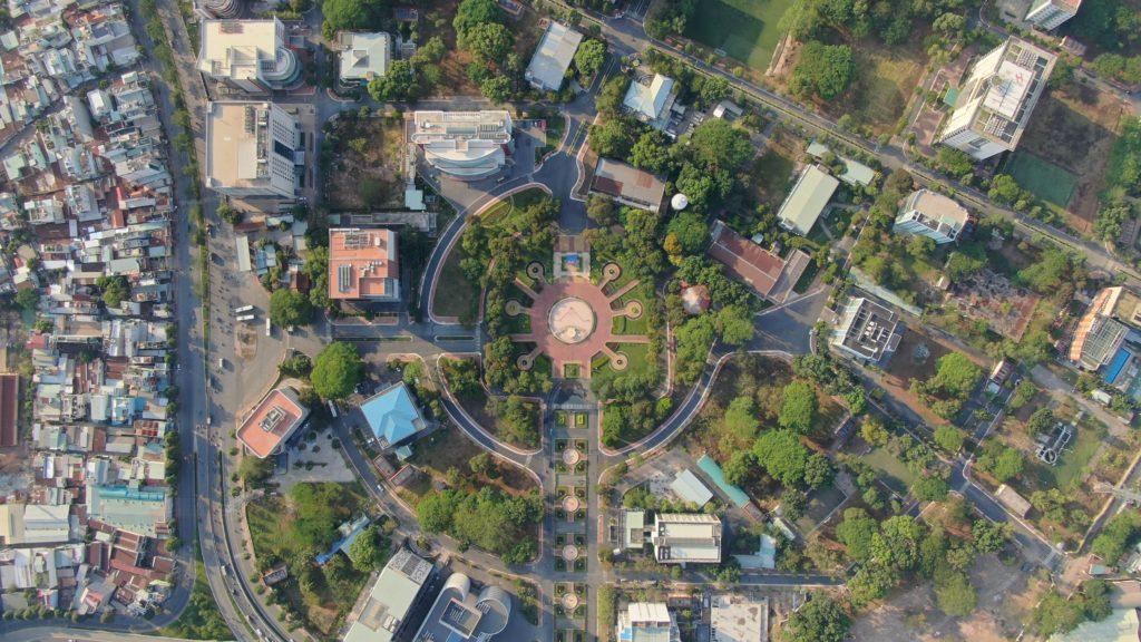 ベトナムオフィス@ITパークを空撮